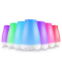 Eworld Air Ultrasonic Humidifier Aromatherapy Oil Diffuser Cool Mist With Color LED Lights Essential Oil Diffuser