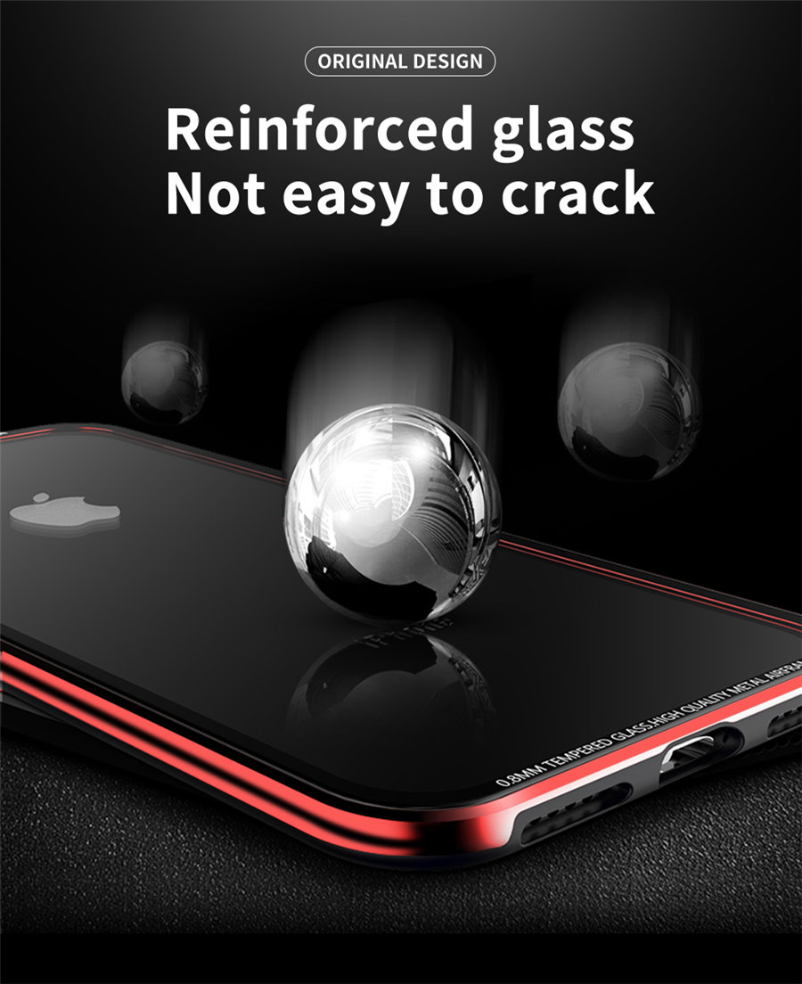 Luxury Aluminum Phone Cases For iPhone X Original R-just Hardness Tempered Glass Cover Case For iPhone X 10 Accessories (6)