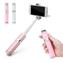 Chegada nova mini wired selfie vara do batom para iphone e android 165mm-600mm liga de alumínio extensível monopé