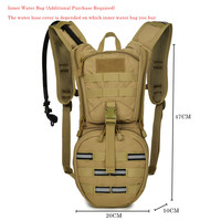 New Water Bag Camelback Backpack bladder Pouch Rucksack Tactical Hydration Bag Military Camping Hiking Pack Bicycle Cycling Bags
