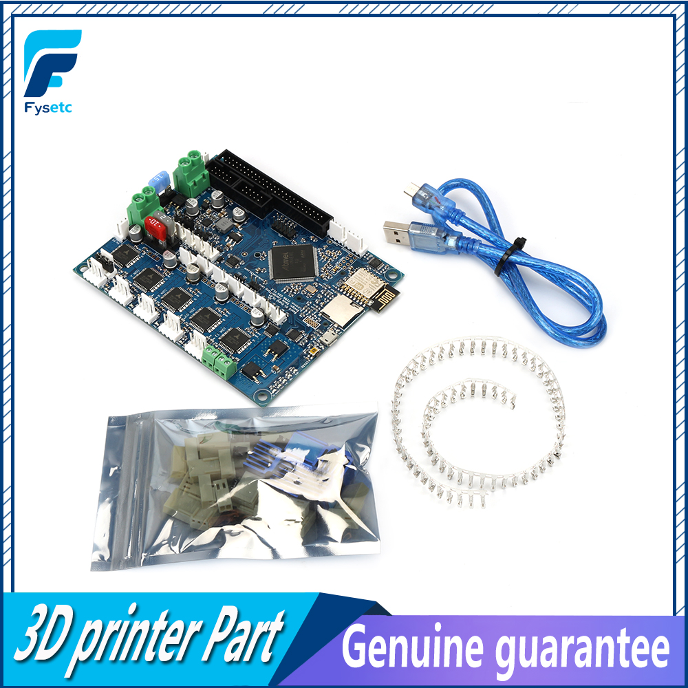 <font><b>Cloned</b></font> DuetWifi <font><b>Duet</b></font> 2 <font><b>Wifi</b></font> V1.04 Advanced 32bit Motherboard With Connected Controller Board For 3D Printer CNC BLV MGN Cube image