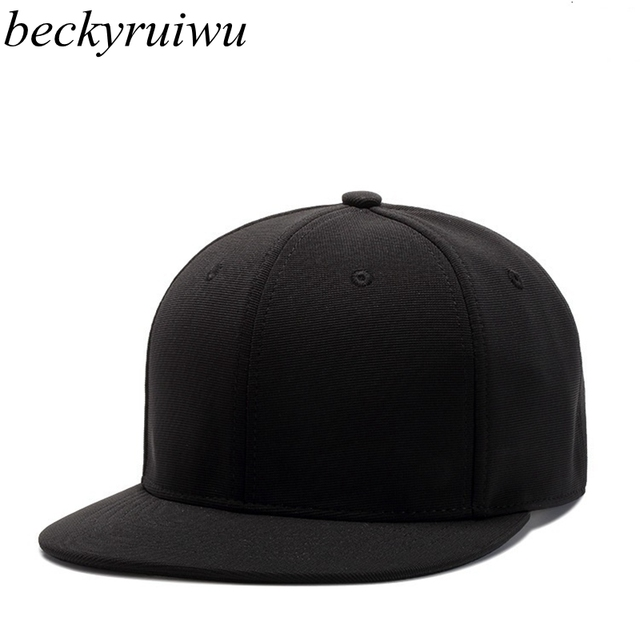 0b84e0694ca Solid Color Skateboard Hats Polyester Flat Bill Cap Plain Baseball Caps Men  Hip Hop Snapback Hat