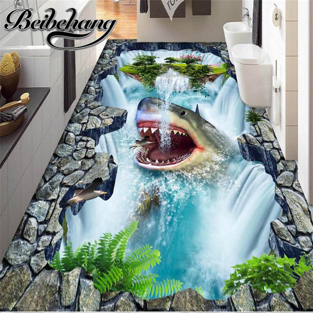 beibehang Decorative floor painting Custom 3d flooring