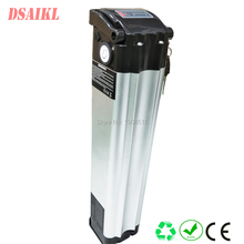 Long cycle life LiFePO4 ebike battery pack 24V 10ah silver fish with charger