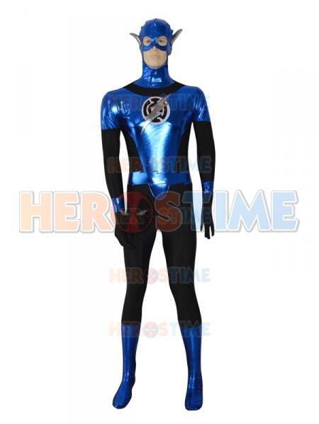 Blue Lantern Crops Shiny Zentai Costume Halloween Cosplay Superhero Suit Custom Made