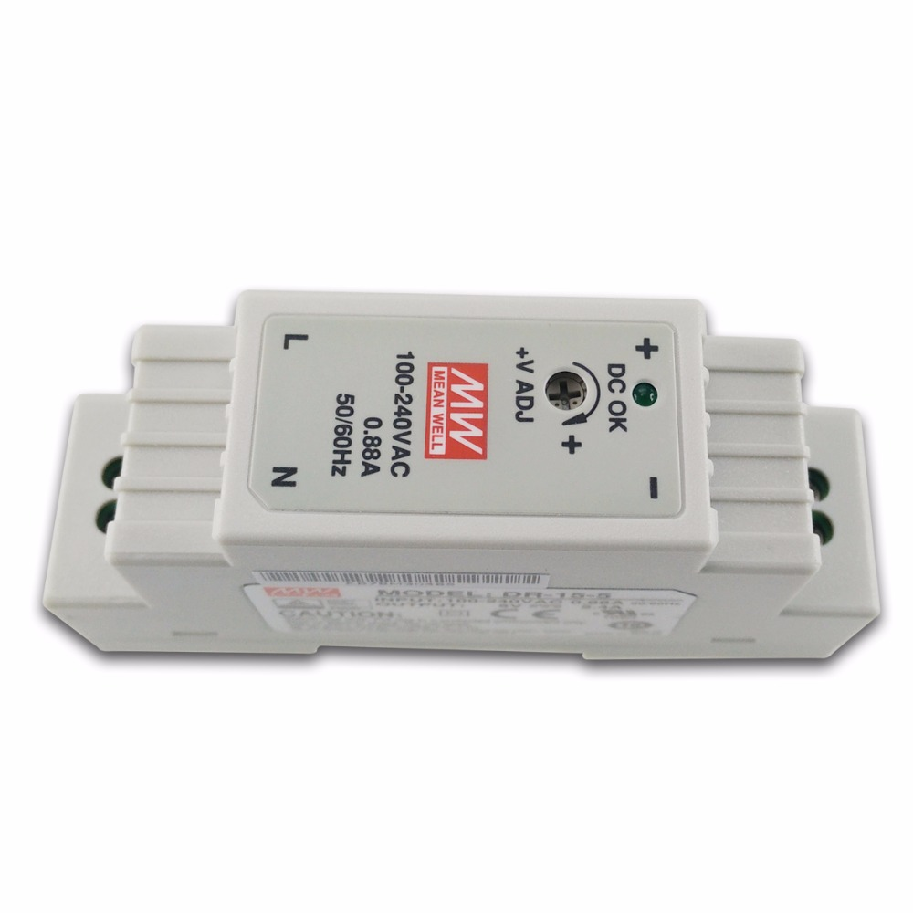 Original Meanwell DR-15-5 12W 5V 2.4A Industrial DIN Rail Mounted Power Supply UL TUV CB EMC CE