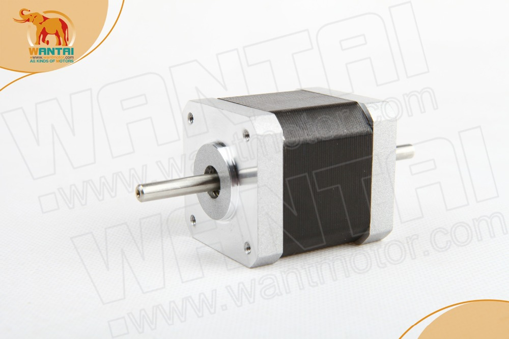 Fast shipping! Wantai 3 PCS Nema 17 Stepper Motor 42BYGHW811B Dual Shaft 70oz-in 2.5A CE ISO ROHS reprep 3D printer dual shaft nema 17 stepper motor 52n cm 72 oz in body length 48mm ce rohs cnc 3d printer motor