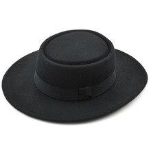 בורסלינו מוצק בצורת פנמה 100% קשמיר הטהורה צמר באיכות טובה כובע ג אז כובע החורף הרגיש מהמר עבור גברים ונשים מגבעות לבד