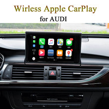 Novo carro sem fio carplay interface de vídeo para audi 3g mmi/mib sistema a3 q3 q5 a6 a4 q7 suporte apple carplay android auto(China)
