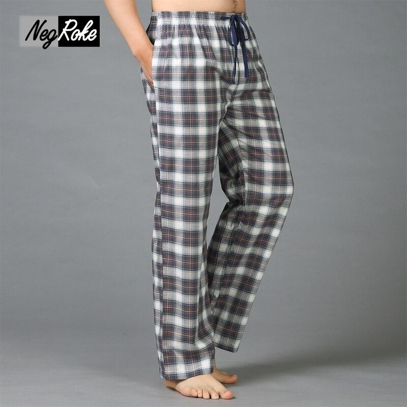 Plus size Summer 100% cotton mens sleep bottoms pajama simple sleepwear pants pijamas for male sheer mens pants pyjama trousers