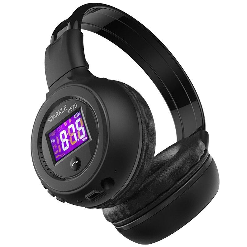 ZEALOT B570 Stereo Bluetooth Headphone Wireless Earphone LCD Screen FM Radio TF Card MP3 Play With Microphone