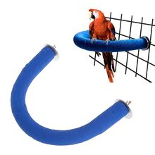 Pet Parrot Perch U Shape Grinding Mouth Paws Claw Birds Stand Holder Rack Parakeet Toys Cage Toy
