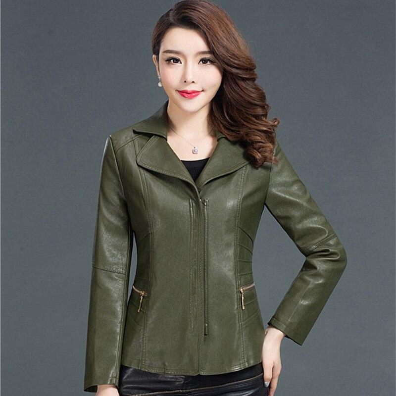 5XL 6XL grande taille en cuir veste femmes automne PU cuir daim femmes court moto Biker veste manteau Faux cuir vestes