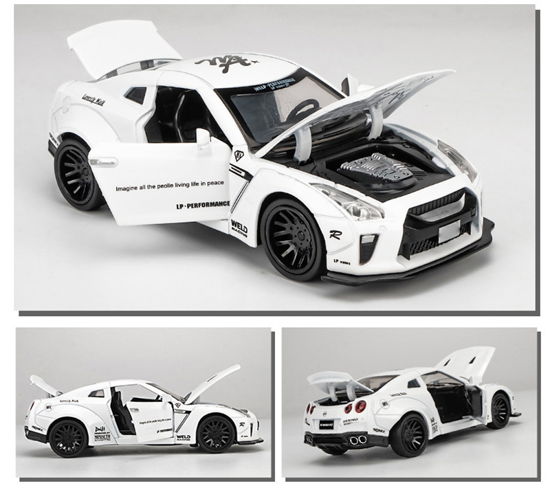 New 1:32 NISSAN GTR Race Alloy Car Model Diecasts & Toy Vehicles Toy Cars Free Shipping Kid Toys For Children Gifts Boy Toy