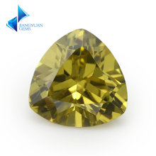 3x3 ~ 12x12 мм Трлн Форма 5a оливково желтый свободные ЧР камня