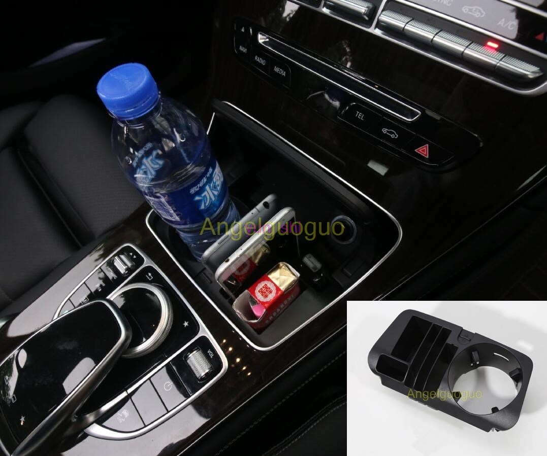 multifunction abs car central storage box cup holder car styling for mercedes benz e class w213. Black Bedroom Furniture Sets. Home Design Ideas