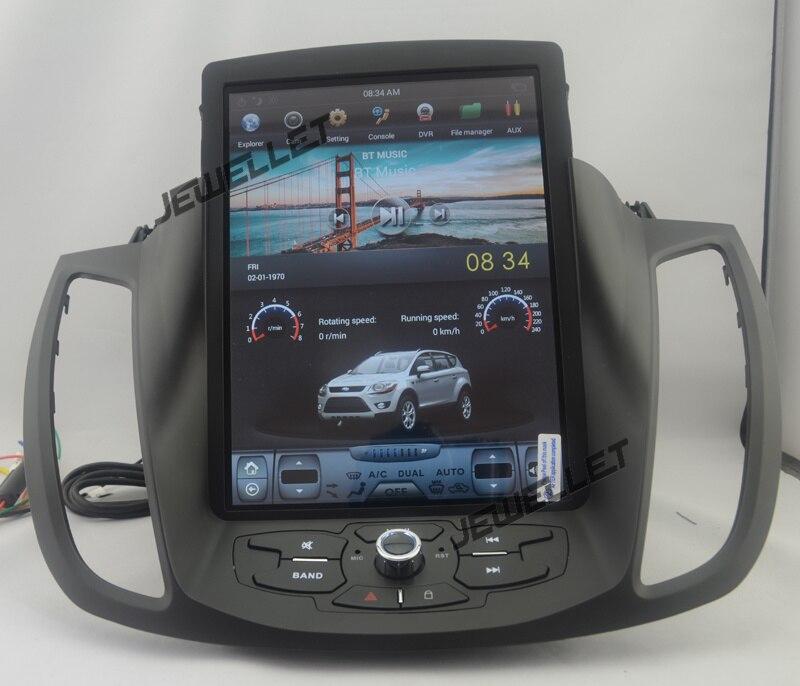 10.4 tesla style vertical écran android 7.1 Quad core De Voiture GPS radio Navigation pour ford kuga Évasion C- max 2013-2016