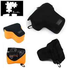 Portable Neoprene Soft Camera bag Case for Sony Alpha A9 A7S II A7R III II A7 III II with 28 70mm lens Camera
