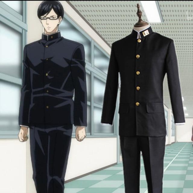 8840b1b30a6c3 Sakamoto Cosplay Classe 3 Grau 2 Preto Uniforme Escolar Japonês Uniformes  Desgaste