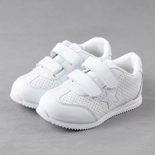 e88bfd92ed86 Высокое качество дети белый кроссовки на липучке обувь для мальчиков и  девочек мягкие и удобные индивидуальные