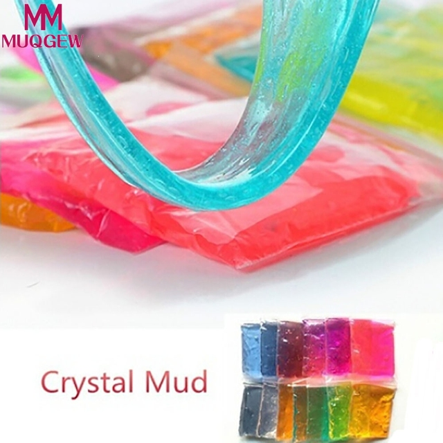 2018 Color al azar Arcilla Barro DIY Barro Cristal Transparente Jugar Magia mullido Kid Juguetes de Plastilina arcilla polimérica plastilina masilla