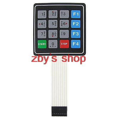 Universal 4x4 16 Key Matrix Membrane Switch Keypad Keyboard 76x69x0.8mm 660v ui 10a ith 8 terminals rotary cam universal changeover combination switch