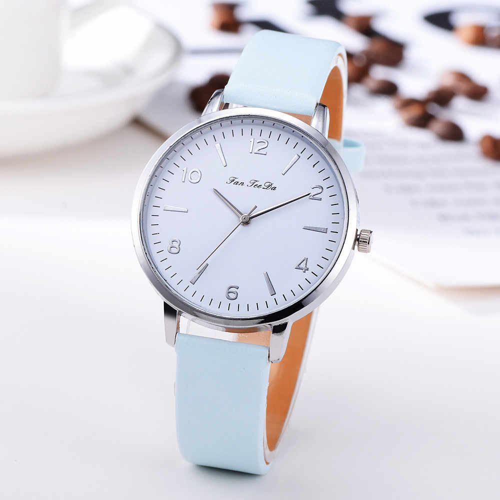 Business Women's Watches Silver Roman Numerals Dial Ladies Simple Quartz Wristwatch Casual Leather Strap Clock Reloj Mujer Fi