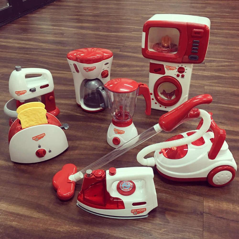 QWZ розовый бытовой ролевые игры кухонные детские игрушки пылесос миксер рисоварка развивающие приспособления для девочки игрушка подарок
