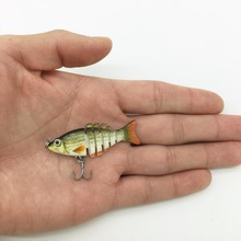 100PCS with 20pcs For Each Color 5CM 2.5G Mini Fishing Lure Articulos De Pesca Hard Bait Multi Jointed Lake Sea