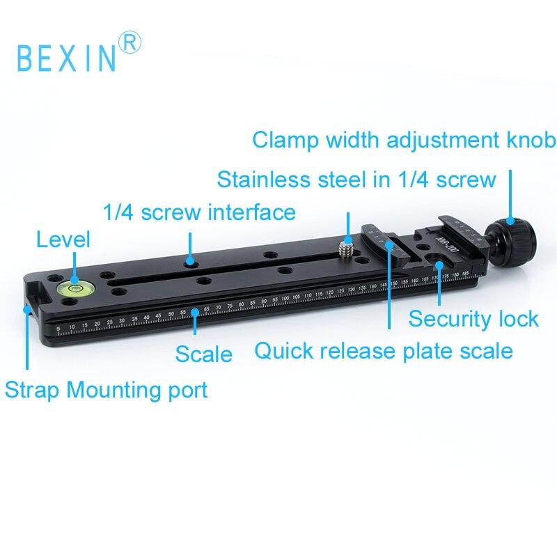 Bexin штатив с шаровой головкой Узловая горка двойной ласточкин хвост макро рельс длинный быстросъемный зажим RRS Крепление камеры пластина зажим для Arca