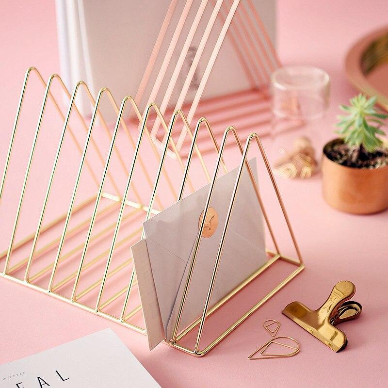 Closeout DealsΩShelves Rack-Shelf Storage-Box Office-Rack Triangle Simple File No Iron Jewelry Magazine