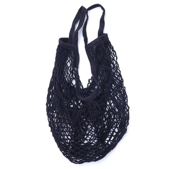 Купить с кэшбэком 2019  Mesh Shopping Bag Reusable String Fruit Storage Handbag Totes Women Shopping Mesh Net Woven Bag Shop Grocery Draw pocket