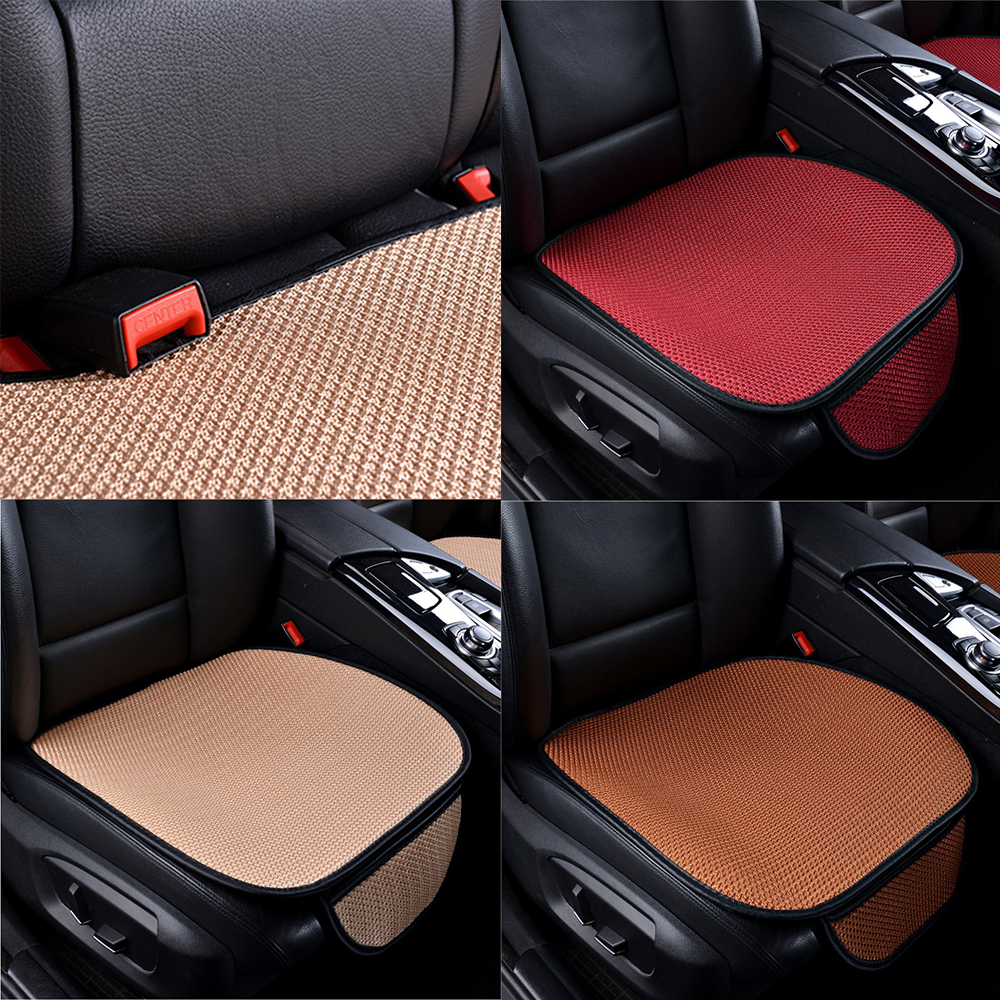 1 pcs 3D Car Seat Cover Breathable PU Leather  Pad Mat For Auto Chair Cushion Anti Slip Mat Front Seat Cover Car Accessories(China)