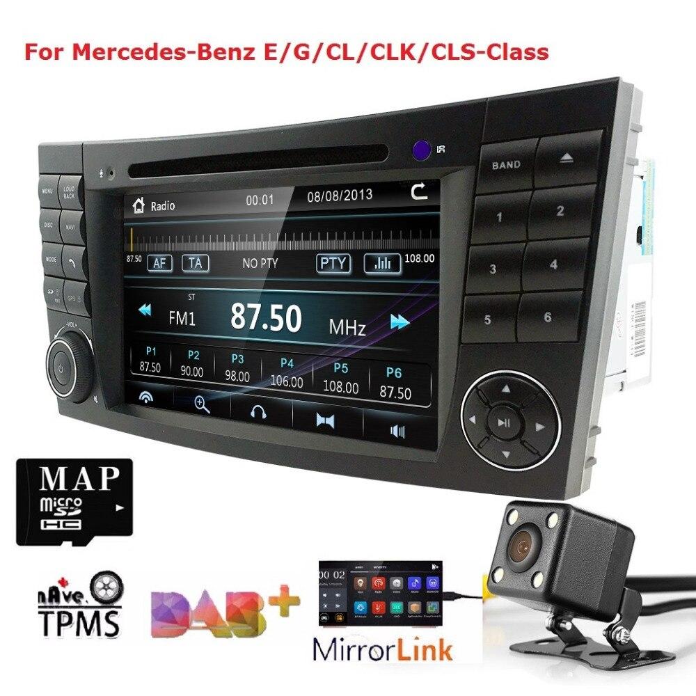 2 Din 7 Pouces dvd de voiture Moniteur Autoradio Lecteur chaîne hi-fi Pour E-Classe/W211/Mercedes/Benz/ CL CANBUS RDS AM/FM CFC BT DTV CAM SD