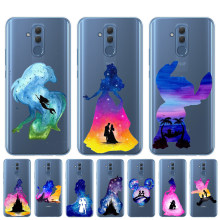 Watercolour Disneys Lion King Mermaid Princess Phone Case For Coque Huawei Mate 10 20 Lite Pro Y5 Y6 Prime 2018 Y9 2019 Cover(China)