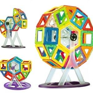 Image 3 - 46pcs Big size magnetic building blocks Ferris wheel Brick designer Enlighten Bricks magnetic toys Childrens birthday gift