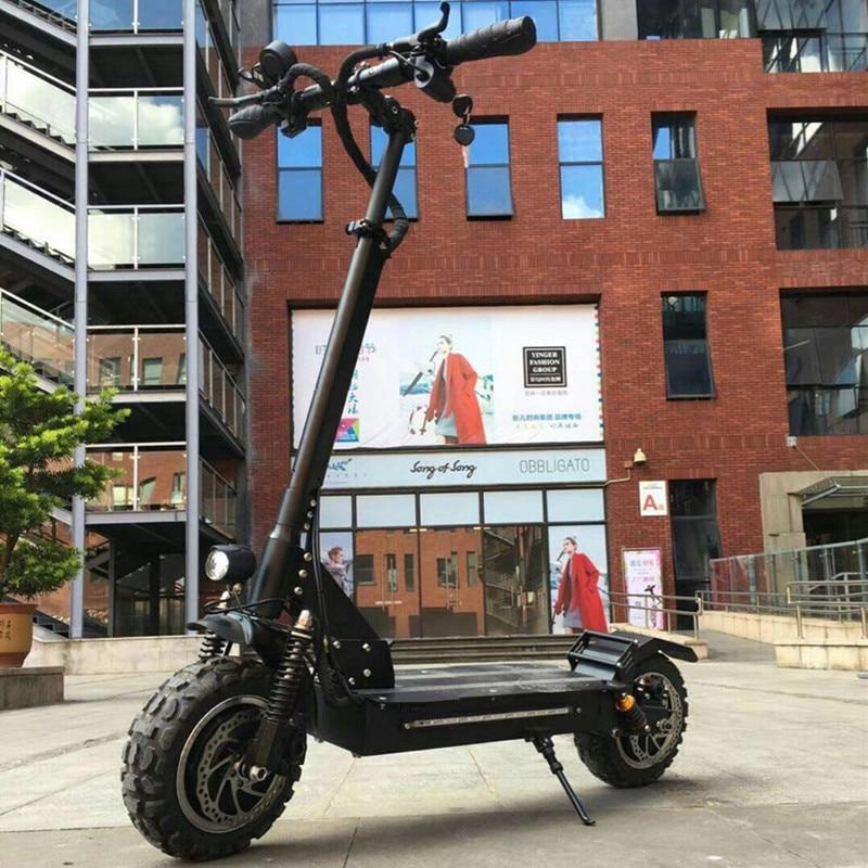 2018 nouveau frein à huile double moteur 60 V 2400 w hors route 10 11 Iinch scooter électrique hoverboard planche à roulettes électrique