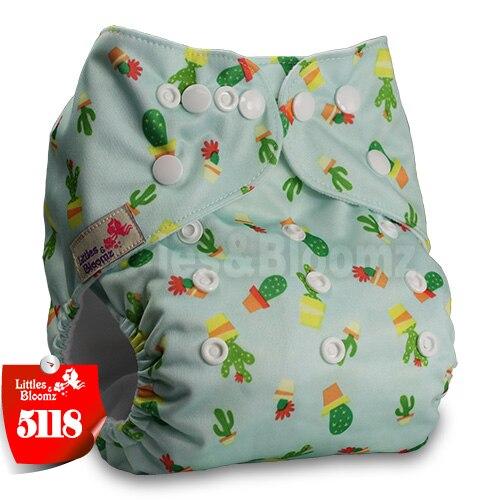 Littles& Bloomz детские моющиеся многоразовые подгузники из настоящей ткани с карманом для подгузников, чехлы для подгузников, костюмы для новорожденных и горшков, один размер, вставки для подгузников - Цвет: 5118