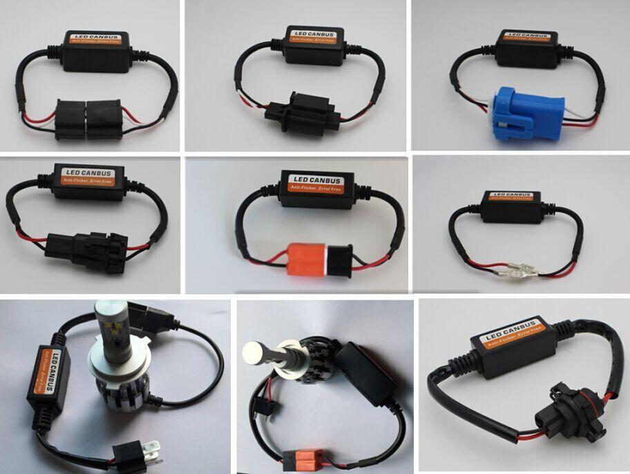 DLAND CAR LED HEADLAMP BULB DECODER WARING CANCELLER, H4 H13 9007 H11 H7 H1 H16 9005
