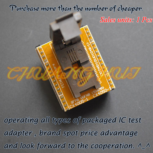 все цены на CX1044 CX1032 CX1050 CX1062-1 adapter module can be used after modification QFN8 to DIP8 adapter WSON8 VDFN8 MLF8 Pitch=1.27mm онлайн