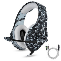 ONIKUMA K1 Camouflage PS4 Gaming Headset Bass Game Headphones Best Casque With Mic For PC Gamer