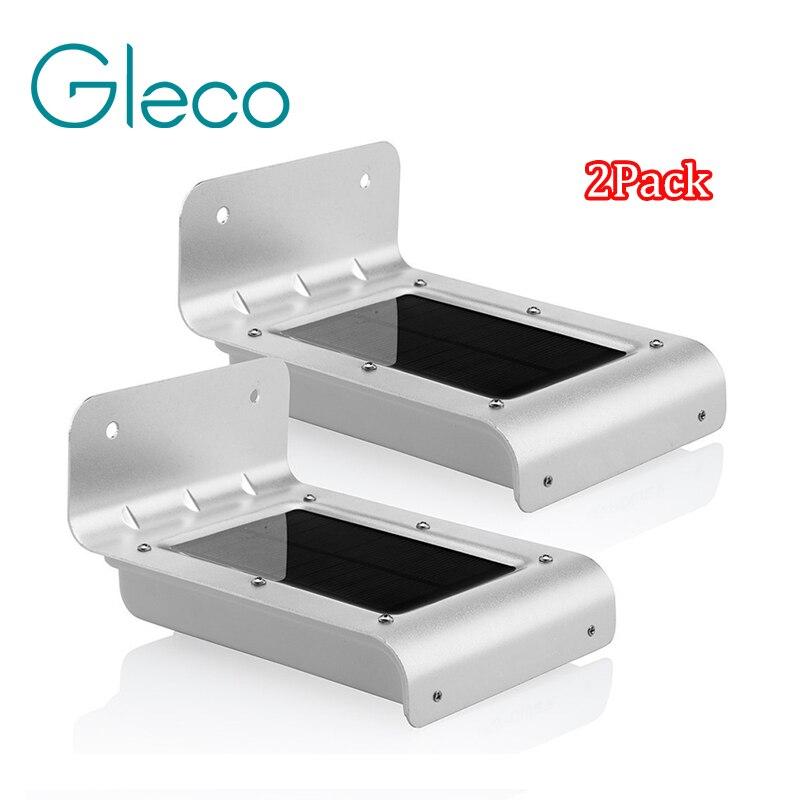 2 Stücke Neue Led Solar Sensor Licht 16 Leds Outdoor Wireless Solarbetriebenen Pir Bewegungsmelder Licht/wandleuchte/sicherheit Lichter