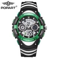 POPART Men Sports Watches Electronic Outdoor Waterproof LED Digital Watch Quartz Wristwatches Women Student Relogio Masculino