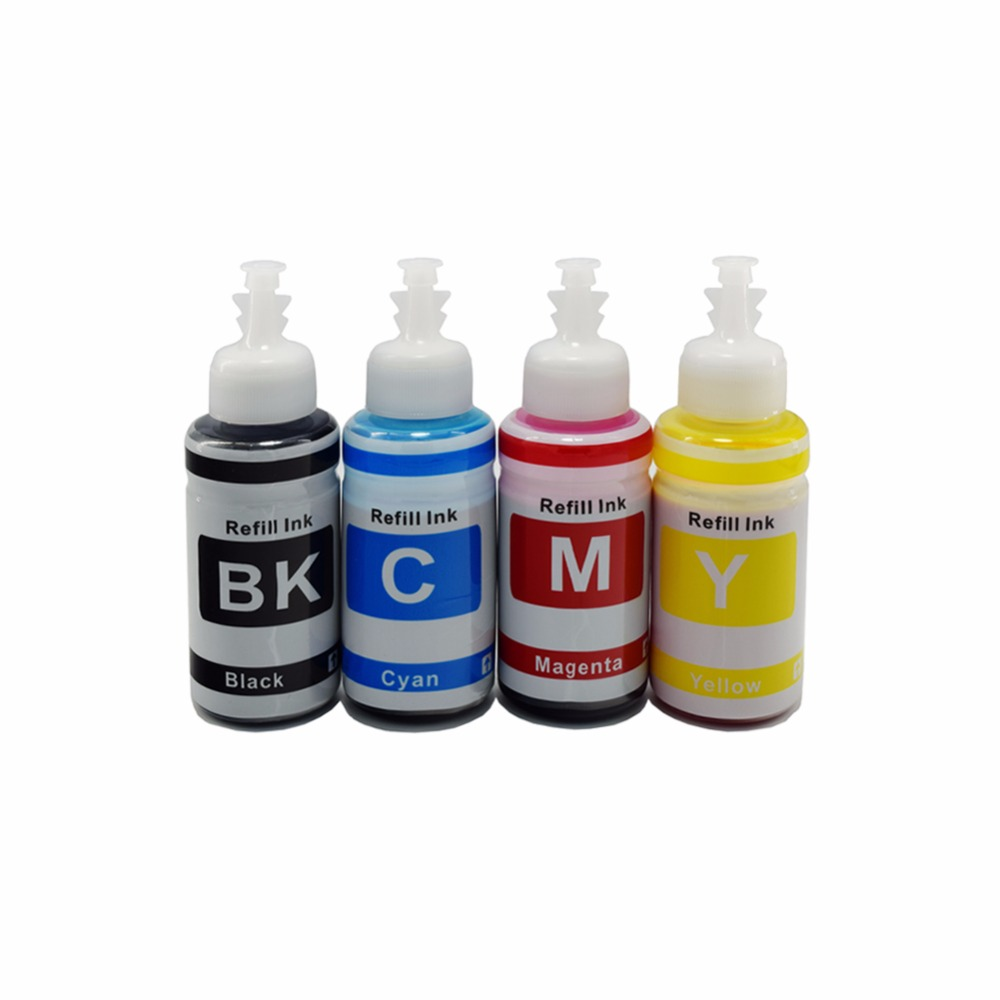 CK 4 Color BK C M Y Dye Ink  for Epson L100 L110 L120 L132 L210 L222 L300 L312 L355 L350 L362 L366 L550 L555 L566 printer inks free shipping 6pcs t0851n t0852n t0853n t0854n t0855n t0856n dye ink for epson t60 inkjet printer bk c m y lm lc