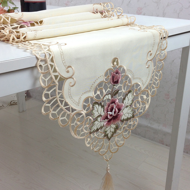 free shipping embroidered rose Coffee table satin table  : free shipping embroidered rose Coffee table satin table runner fashion table flag modern fabric dining table from www.aliexpress.com size 800 x 800 jpeg 332kB