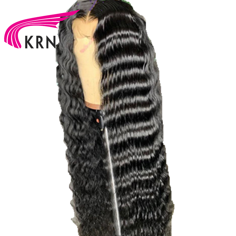 KRN 13X6 Lace Front Human Hair Wig Preplucked Brazilian Hair Remy Hair Wavy Wigs With Baby Hair For Women