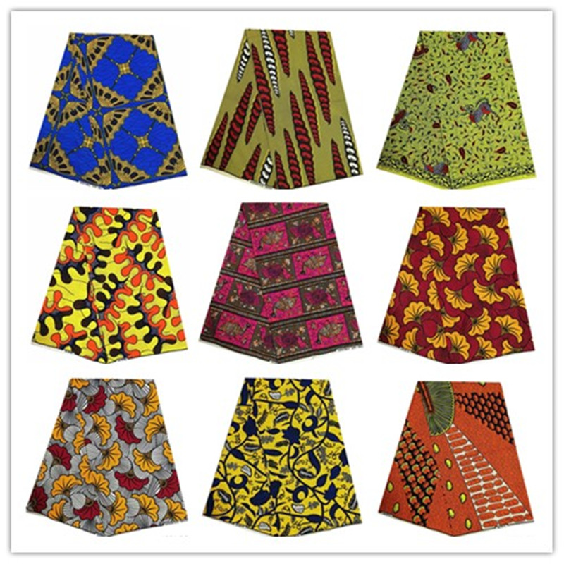 African Wax Fabric 100% Polyester High Quality Embroidery Real Wax Ankara Fabric African Wax Prints For Dress 1001