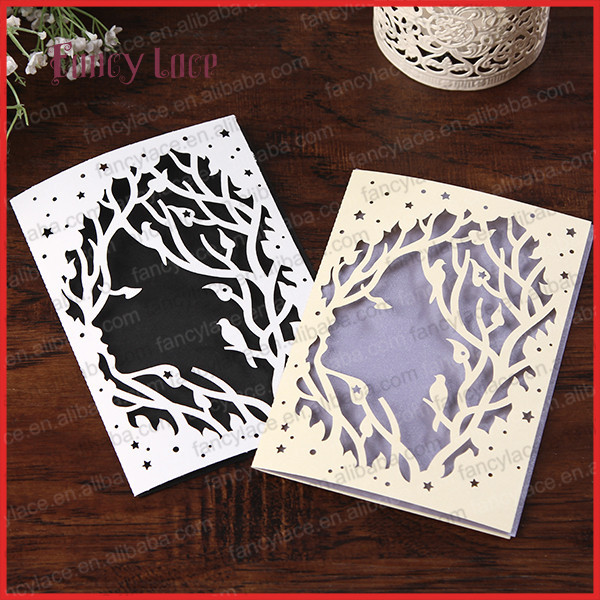 Aliexpresscom buy hot sale laser cut paper customized for Wedding invitation paper for sale
