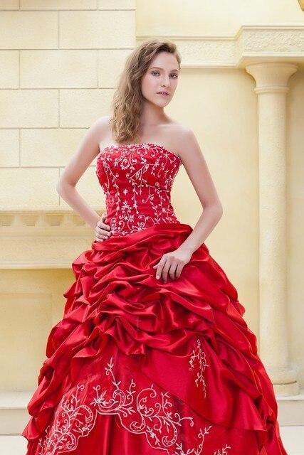 vestido de noiva nuevo color rojo vestidos de novia 2017 de novia