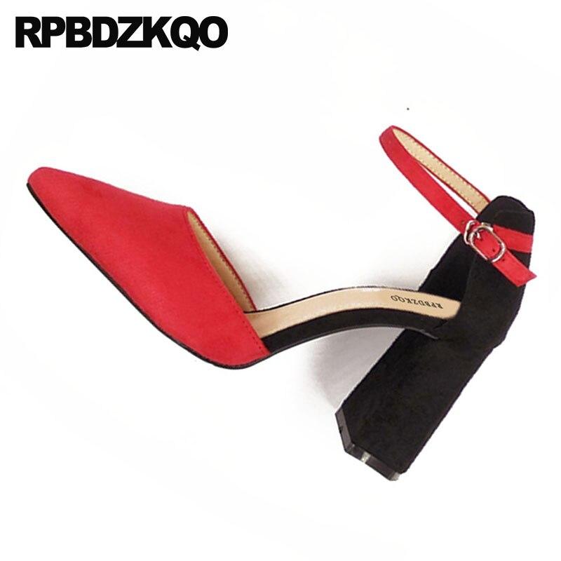 Pointu Haute Chaussures 8cm Coréennes Talons Black Daim 8 gray Sangle Bout Pas Épais 2018 8cm Cher Cm Sandales Cheville Taille 34 4 7cm black 8cm Moyen Pouces Vert 3 red 8cm black 5cm Dames green UEwzwBqS